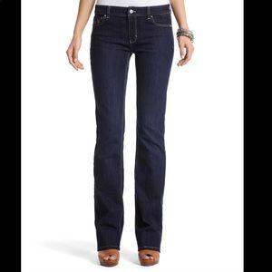 White House Black Market dark wash jeans 6R